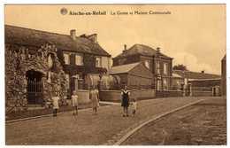 Belgique : Aische-en-Refail : La Grotte Et Maison Communale - Belgique
