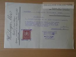 DC51.8 Invocie Weinberger Mór - Budapest  1934 - Revenue Stamp - Unclassified