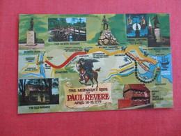Midnight Ride Of Paul Revere April 18-19  1775------------  Ref 3018 - History