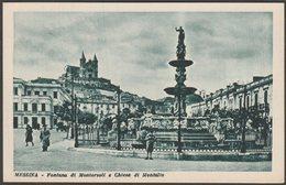 Fontana Di Montorsoli E Chiesa Di Montalto, Messina, Sicilia, C.1930 - GDSM Cartolina - Messina