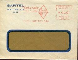 36324 France, Red Meter/freistempel/ema/ Wattrelos 1957 Sartel  Cotons A Tricoter Archery - Boogschieten