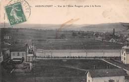 AUDINCOURT - Vue De L'Usine Peugeot, Prise à La Sortie - Autres Communes