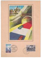 FEUILLET MIXTE FRANCE-ITALIE Avec TIMBRE MONT-BLANC Et OBLITERATION PREMIER JOUR 1965 (Ed. CERES PARIS) - 1960-1969
