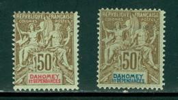 Dahomey 5, 13, Forgeries, Navigation & Commerce,Neuf* 13 Disturbed Gum, Scott 12, 12a - Dahomey (1899-1944)