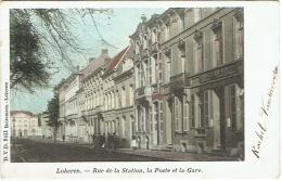 Lokeren. Rue De La Station, Poste Et Gare. - Lokeren