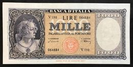 1000 LIRE Italia Medusa 10 02 1948  Naturale Forellini Q.spl  LOTTO 2136 - [ 2] 1946-… : Républic