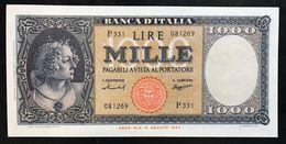 1000 LIRE ITALIA MEDUSA 15 09 1959 SUP/FDS ASTA 2137 - [ 2] 1946-… : Républic