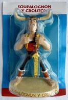 FIGURINE EN RESINE ASTERIX ATLAS 18 SOUPALOGNON Y CROUTON (1) Neuf Sous Bister - Asterix & Obelix