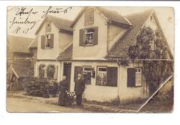 6312 LAUBACH, Einzelhaus Photo-AK, 1919, Eckknick, Querknick - Laubach