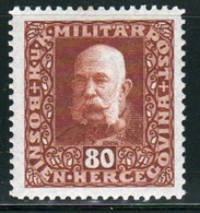 Bosnia Military Post 80 Heller Brown Stamp Of Francis Joseph 1 From 1916 In Mounted Mint Condition. - Bosnia And Herzegovina