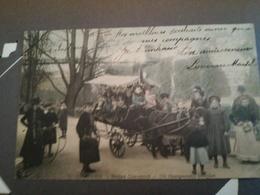 """Très Belle Cartes Postales Avec Timbre Paris """"Buttes De C. Cartoline Francesi Inizi Del Novecento Parigi Con Francobollo - Parks, Gardens"""
