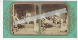 FRANCE LES BATTEURS Circa 1855 PHOTO STEREO /FREE SHIPPING REGISTERED - Photos Stéréoscopiques