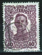 Bosnia Military Post 40 Heller Purple Emperor's Welfare Fund In Fine Used Condition. - Bosnia And Herzegovina