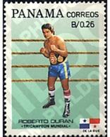 Ref. 27007 * MNH * - PANAMA. 1984. TRIPLE WORLD BOXING CHAMPION . TRIPLE CAMPEON DEL MUNDO DE BOXEO. R.DURAN - Panama