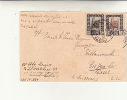 Posta Militare N°55 To Basel Suisse, Su Cartolina Postale - Libia ,Oasi 1939 - Libya