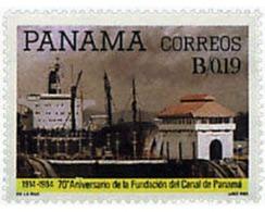 Ref. 56856 * MNH * - PANAMA. 1985. 70th ANNIVERSARY OF THE PANAMA CANAL . 70 ANIVERSARIO DEL CANAL DE PANAMA - Panama