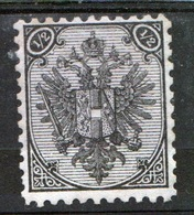 Bosnia Military Post ½ Kreuzer Black Stamp With Value In Top Corner In Mounted Mint Condition. - Bosnia And Herzegovina