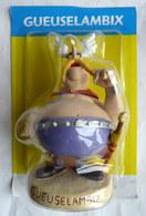 FIGURINE EN RESINE ASTERIX ATLAS 53 GEUSELAMBIX 1 Neuf Sous Bister Infime Félure - Asterix & Obelix