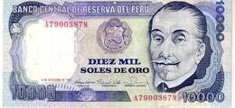 Peru P.124 10000 Soles 1981 AU+ - Perù