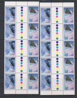 AAT 1996 Landscapes/Landforms 5x Gutter (45c 10x Gutter) ** Mnh (F7263) - Australisch Antarctisch Territorium (AAT)