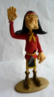 FIGURINE LUCKY LUKE RESINES ATLAS - 2003 - LUCKY LUKE - INDIEN PATRONIMO (2) Dans Sa Boite - Figurines