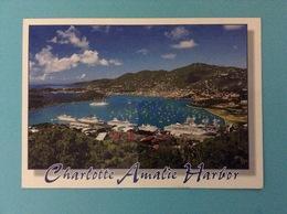 STATI UNITI USA CARTOLINA CHARLOTTE AMALIE HARBOR VIRGIN ISLANDS - Isole Vergine Britanniche