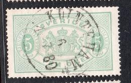 1874 SVEZIA  FRANCOBOLLI DI SERVIZIO  5  O  Annullo KLINTEHAMN  1/7/80 - Suède