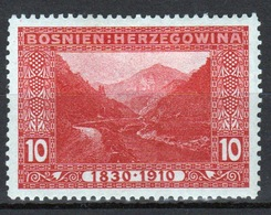 Bosnia 1910 Military Post 10 Heller Red Stamp In Mounted Mint Condition. - Bosnia And Herzegovina