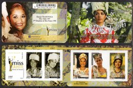 FRENCH POLYNESIA, 2018, MNH, MISS TAHITIS OF YESTERDAY AND TODAY, BEAUTY CONTESTS, BOOKLETS - Stamps