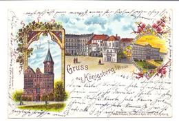 OSTPREUSSEN - KÖNIGSBERG / KALININGRAD, Lithographie, Hauptwache, Post Und Dom, 1900 - Ostpreussen