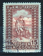 Bosnia 1918 Military Post 15 Heller Brown War Invalid's Fund Stamp In Fine Used Condition. - Bosnia And Herzegovina