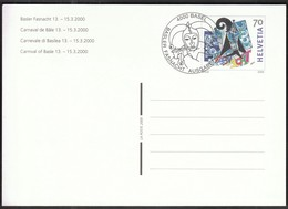 Switzerland Basel 2000 / Basler Fasnacht, Carnival Of Basle / Stamped Stationery - Ganzsachen