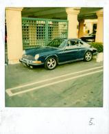Photo Polaroid 6 Originale Porsche 911 (901), Ou 911 Classic 1964-73  Bleue Métallisée Vers 1970/80 - Automobiles