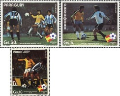 Ref. 71650 * MNH * - PARAGUAY. 1982. FOOTBALL WORLD CUP. SPAIN-82 . COPA DEL MUNDO DE FUTBOL. ESPAÑA-82 - Paraguay