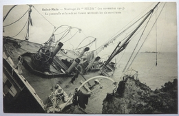 """NAUFRAGE DU """" HILDA """"  - LA PASSERELLE ET LE MÂT OU FURENT RETROUVÉS LES SIX SURVIVANTS - SAINT MALO - Saint Malo"""