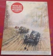 Revue Des Usagers De La Route N°184 Mai 1933 Spécial 24 Heures Du Mans Engagés Nombreuses Photos Bugatti Alfa Romeo - Auto