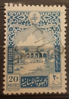 Lebanon 1951 Fiscal Revenue Stamp 20p Beit-ed-Din Palace, Blue, Imprint I.C.Beyrouth - Lebanon