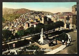 San Piero Patti Panorama E Monumento Ai Caduti Viaggiata 1959 Cod.c.2065 - Messina