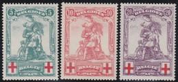 Belgie    .    OBP    .     126/128 (!28: Keur)   .     *     .      Ongebruikt  Met Charnier   .    /     .    Neuf   * - 1914-1915 Croix-Rouge