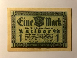Allemagne Notgeld Ratibor 1 Mark - [ 3] 1918-1933 : Weimar Republic