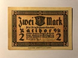 Allemagne Notgeld Ratibor 2 Mark - [ 3] 1918-1933 : Weimar Republic