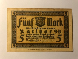 Allemagne Notgeld Ratibor 5 Mark - [ 3] 1918-1933 : Weimar Republic