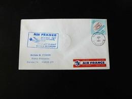 LETTRE  1 ER VOL   DE MANILLE POUR L'EUROPE  -  AIR FRANCE  -  BOEING 707  -  JUIN 1961  - - 1960-.... Lettres & Documents