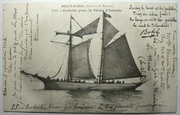 GOËLETTE POUR LA PÊCHE D'ISLANDE - BRETAGNE - Fishing Boats