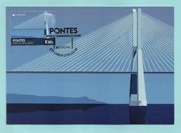 Portugal   2018  , EUROPA CEPT Brücken - Maximum Card - First Day  CTT Ponta Lisboa  2018.05.19 - 2018