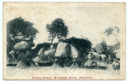 RHODESIA : NATIVE KRAAL, M'CABUSI RIVER - Zimbabwe