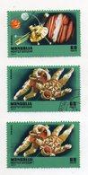 """MONGOLIA -1977 - Lotto 3 Francobolli Tematica """" Spazio """" - Usati -  (FDC10901) - Space"""