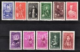 MONACO 1942  - LOT 11 TP NEUFS SANS GOMME / Y.T. 234 / 235 / 326 / 237 / 238 / 239 / 240 / 241 X 2 / 242 / 243 - - Neufs