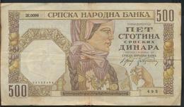 °°° SERBIA - 500 DINARA 1941 °°° - Serbia