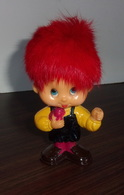 Figurine Garcon Avec Oiseau Berries Vintage - 1970 - Cheveux Rouges - Figurines